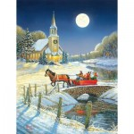 Puzzle  Sunsout-29027 XXL Pieces - Evening Sleigh