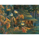 Puzzle  Sunsout-29034 XXL Pieces - Cabin Chickadees