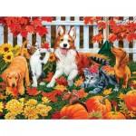 Puzzle  Sunsout-30407 XXL Pieces - The Leaf Collectors