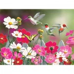 Puzzle  Sunsout-30412 XXL Pieces - Cosmos and Hummingbirds