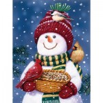 Puzzle  Sunsout-30466 XXL Pieces - Snowman Bird Feeder