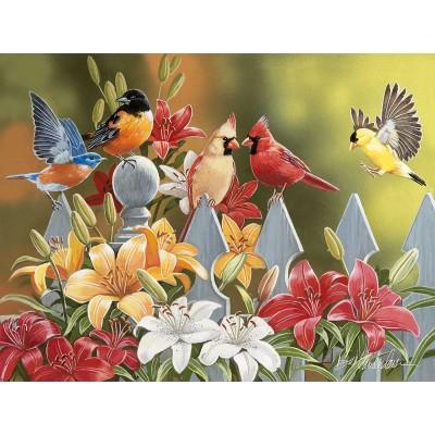 Puzzle Sunsout-30479 XXL Pieces - William Vanderdasson - Birds on a Fence