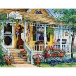 Puzzle  Sunsout-31366 XXL Pieces - Barbara Mock - Blue Violet Antiques