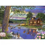 Puzzle  Sunsout-31405 Bigelow Illistrations - Peace River