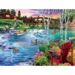 Puzzle  Sunsout-31418 XXL Pieces - Bridge Fishing