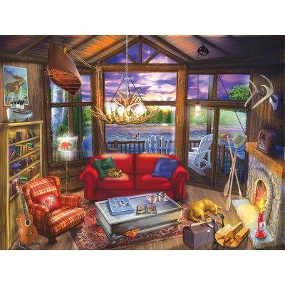 Puzzle Sunsout-31425 XXL Pieces - Evening at the Cabin
