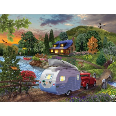 Puzzle Sunsout-31430 XXL Pieces - Campers Coming Home