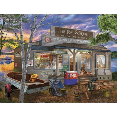 Puzzle Sunsout-31443 XXL Pieces - Rod and Reel