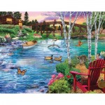 Puzzle  Sunsout-31513 Bridge Fishing