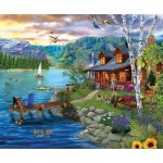 Puzzle  Sunsout-31559 XXL Pieces - Peaceful Summer