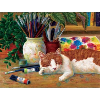 Puzzle Sunsout-31613 Linda Elliot - Painter's Helper
