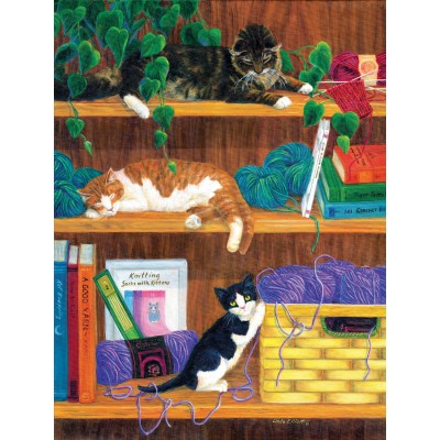 Puzzle Sunsout-31631 Linda Elliott - A good Yarn
