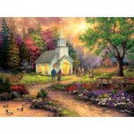 Puzzle  Sunsout-33709 XXL Pieces - Chuck Pinson - Country Church