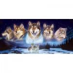 Puzzle  Sunsout-34776 Al Agnew - Wolves in the Snow