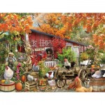Puzzle  Sunsout-34871 XXL Pieces - Barnyard Chickens
