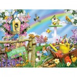 Puzzle  Sunsout-34878 XXL Pieces - Spring Egg Hunt