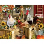 Puzzle  Sunsout-34896 XXL Pieces - Lori Schory - Chickens on the Farm
