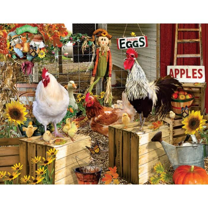 XXL Pieces - Lori Schory - Chickens on the Farm