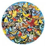 Puzzle  Sunsout-34953 Lori Schory - Butterflies in the Round