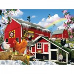 Puzzle  Sunsout-34988 XXL Pieces - Spring Chickens