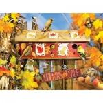 Puzzle  Sunsout-35004 Lori Schory - Fall Leaves