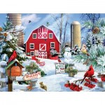 Puzzle  Sunsout-35025 Lori Schory - A Snowy Day on the Farm