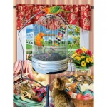 Puzzle  Sunsout-35044 XXL Pieces - Lori Schory - Bird Cage