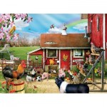 Puzzle  Sunsout-35068 XXL Pieces - Barnyard Soccer