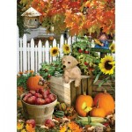 Puzzle  Sunsout-35140 XXL Pieces - Lori Schory - Harvest Puppy