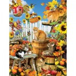 Puzzle  Sunsout-35143 XXL Pieces - Lori Schory - Harvest Kittens