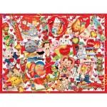 Puzzle  Sunsout-35147 XXL Pieces - Valentine Card Collage