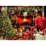 Puzzle  Sunsout-35188 Christmas Mayhem