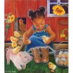 Puzzle  Sunsout-35808 XXL Pieces - Barn Babies