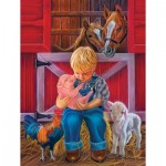 Puzzle  Sunsout-35816 XXL Pieces - Little Farm Friends