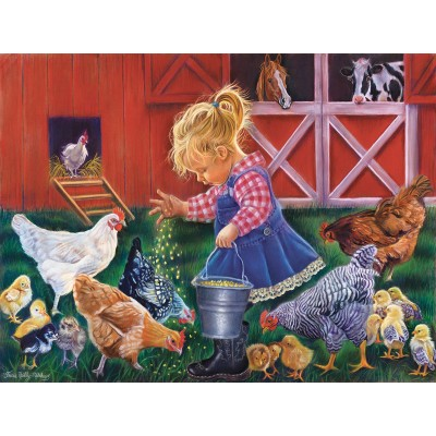 Puzzle Sunsout-35886 XXL Pieces - Little Farm Girl