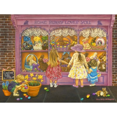 Puzzle Sunsout-35926 XXL Pieces - Tricia Reilly-Matthews -  Some Bunny Loves You
