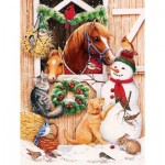 Puzzle  Sunsout-36006 XXL Pieces - Barn Door Crowd