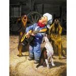 Puzzle  Sunsout-36059 XXL Pieces - Singing Cowboy