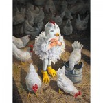 Puzzle  Sunsout-36062 XXL Pieces - New Rooster in Town