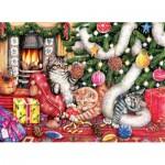 Puzzle  Sunsout-36452 Debbie Cook - Cats and Baubles