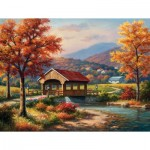 Puzzle  Sunsout-36610 XXL Pieces - Covered Bridge in Fall