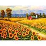 Puzzle  Sunsout-36624 XXL Pieces - Red River Sunflower Farm