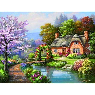 Puzzle Sunsout-36660 XXL Pieces - Spring Creek Cottage