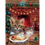 Puzzle  Sunsout-37054 Brooke Faulder - A Surprise for Santa