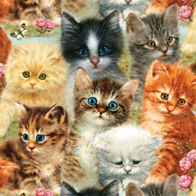 Puzzle Sunsout-37116 Giordano Studios - A Pile of Kittens