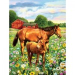 Puzzle  Sunsout-37174 XXL Pieces - Mare and Foal