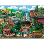 Puzzle  Sunsout-38649 XXL Pieces - Town Square Festival
