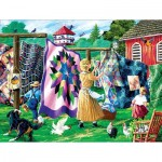 Puzzle  Sunsout-38855 XXL Pieces - Quilter's Clothesline