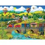 Puzzle  Sunsout-38930 XXL Pieces - Big Top Circus Train