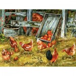 Puzzle  Sunsout-39181 XXL Pieces - Pickin Chickens
